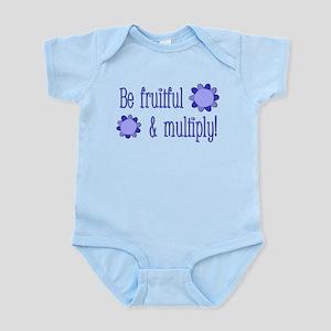 Be fruitful and multiply! blue design Infant Bodys
