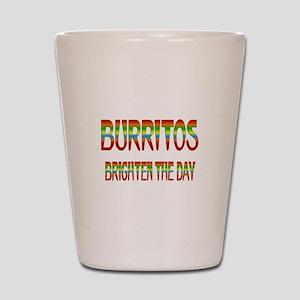 Burritos Brighten Shot Glass