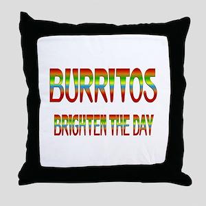 Burritos Brighten Throw Pillow