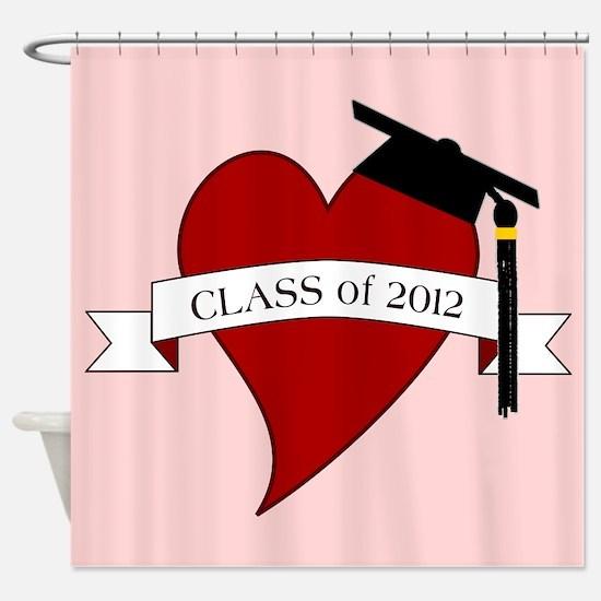 Class 2012 Heart Shower Curtain