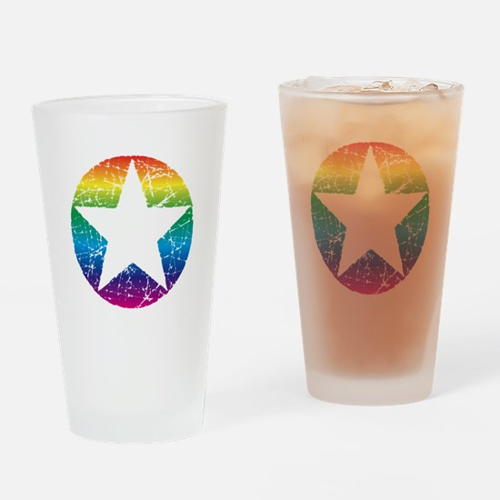 Raindow Star 2 Drinking Glass