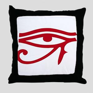Eye of Ra Red Original Throw Pillow
