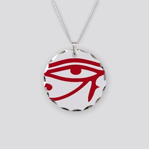 Eye of Ra Red Original Necklace Circle Charm