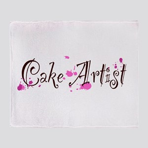 Cake Artist Throw Blanket