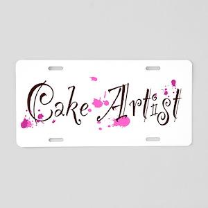 Cake Artist Aluminum License Plate