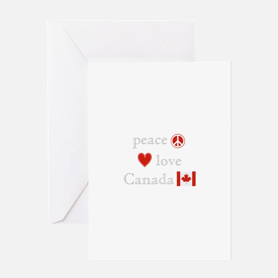 Peace, Love and Canada Greeting Card