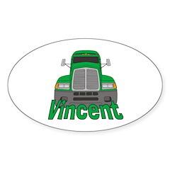 Trucker Vincent Sticker (Oval)