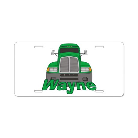 Trucker Wayne Aluminum License Plate