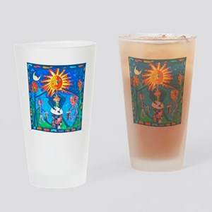 Sun Drummer Drinking Glass