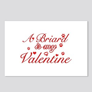 A Briard is my valentines Postcards (Package of 8)