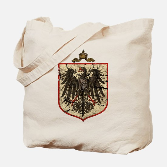 German Imperial Eagle Distressed Tote Bag