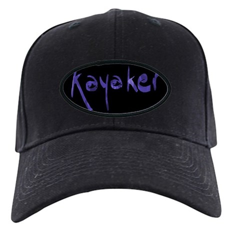 Kayaker's Black Baseball Cap