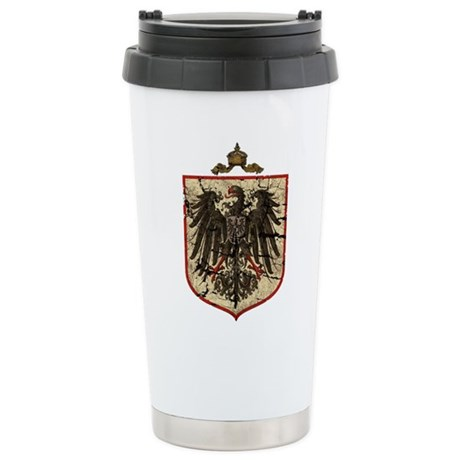German Imperial Eagle Distressed Stainless Steel T