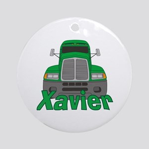 Trucker Xavier Ornament (Round)