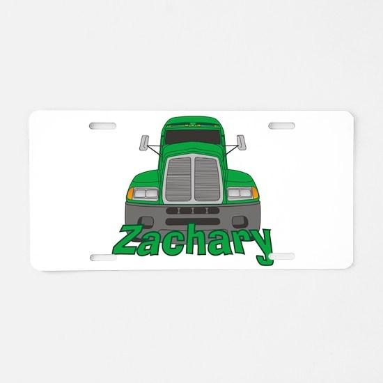 Trucker Zachary Aluminum License Plate