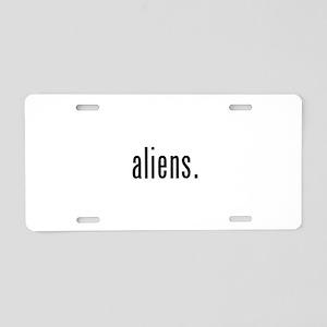 Aliens Aluminum License Plate
