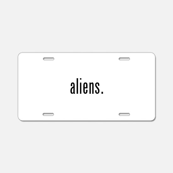 Aliens Aluminum License Plate