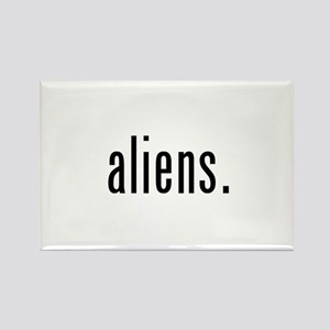Aliens Rectangle Magnet