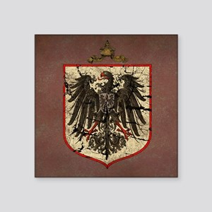 """German Imperial Eagle Distressed Square Sticker 3"""""""