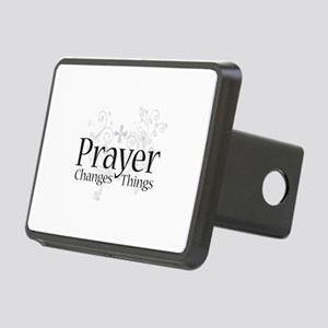 Prayer Changes Things Rectangular Hitch Cover