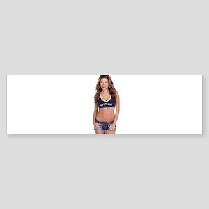 Lea Caprice Model Dallas Cowboys Bumper Sticker