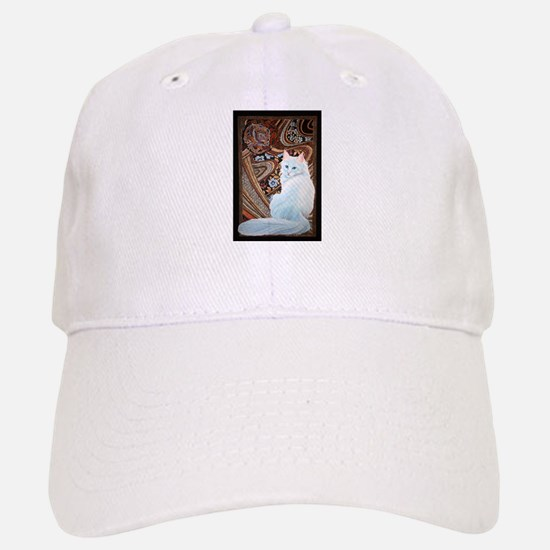 White Turkish Angora Baseball Baseball Cap