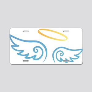 Angel Aluminum License Plate