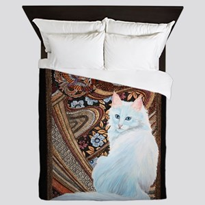 White Turkish Angora Queen Duvet