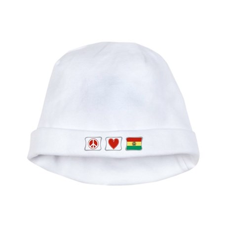 Peace, Love and Bolivia baby hat