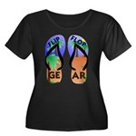 Flip Flop Gear Logo Women's Plus Size Scoop Neck D