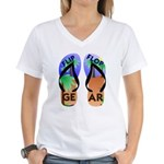 Flip Flop Gear Logo Women's V-Neck T-Shirt