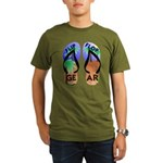 Flip Flop Gear Logo Organic Men's T-Shirt (dark)