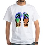 Flip Flop Gear Logo White T-Shirt