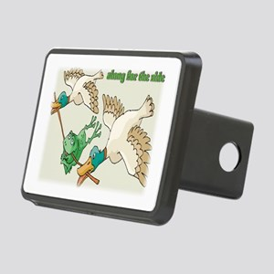 along for the ride Rectangular Hitch Cover