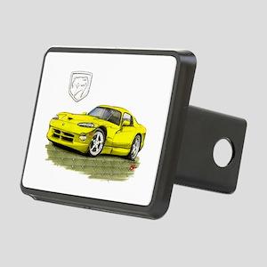 Viper Yellow Car Rectangular Hitch Cover