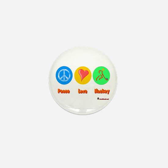 Peace Love Hockey 6000.png Mini Button
