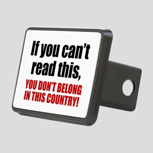 Can't Read This? Rectangular Hitch Cover