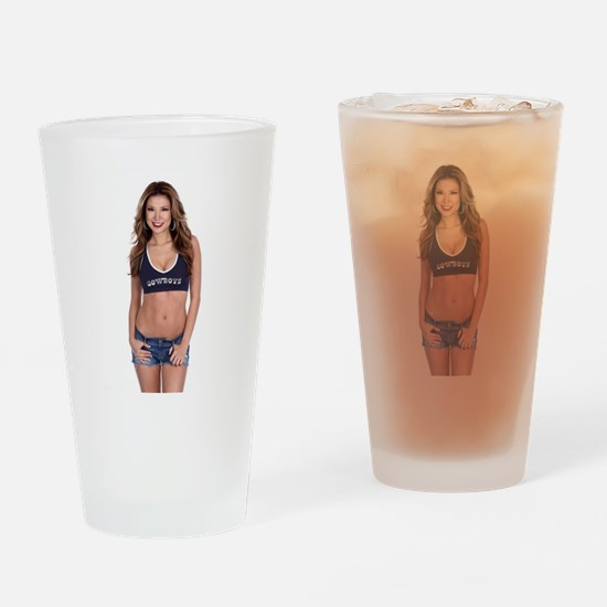 Lea Caprice Model Dallas Cowboys Drinking Glass