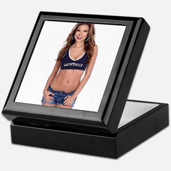 Lea Caprice Model Dallas Cowboys Keepsake Box