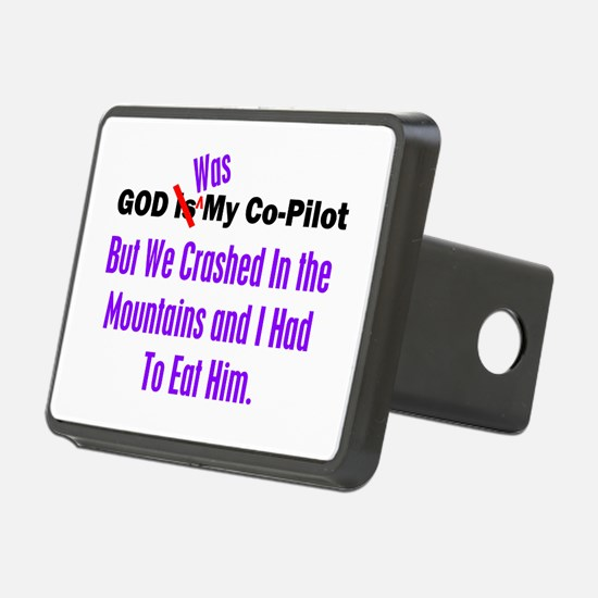 God was my co-pilot purple Hitch Cover