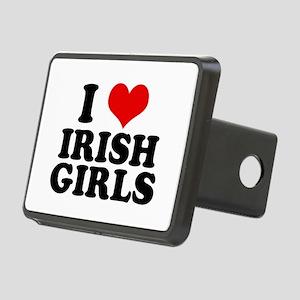 I Heart Irish Girls Red Rectangular Hitch Cover