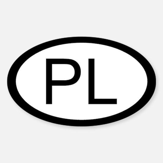 Polish Car Sticker / Decal (Oval)