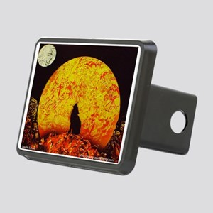 Coyote Sunset Rectangular Hitch Cover