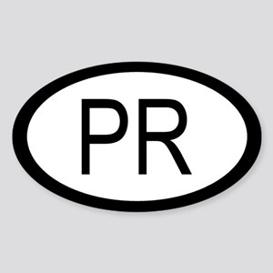 Puerto Rico Car Sticker / Decal (Oval)
