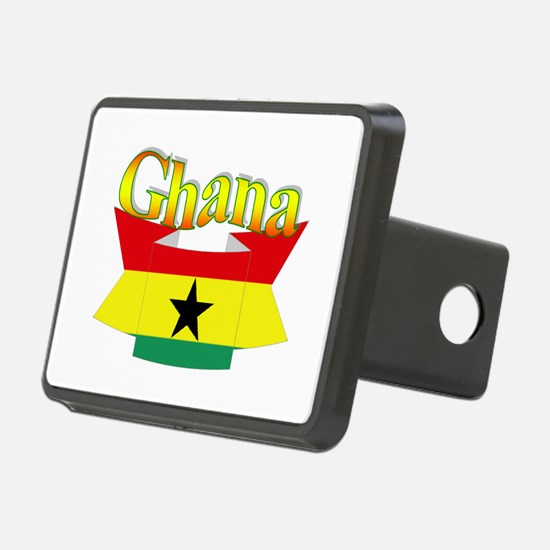 Ghana flag ribbon Hitch Cover