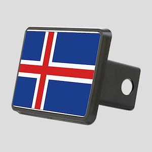 Iceland Flag Rectangular Hitch Cover