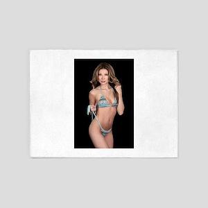 Lea Caprice Model Bikini 5'x7'Area Rug