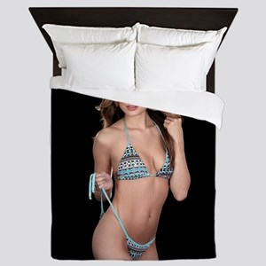 Lea Caprice Model Bikini Queen Duvet