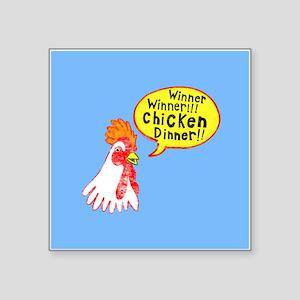 """Winner Chicken Dinner Square Sticker 3"""" x 3"""""""