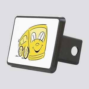 YELLOW HAPPY BUS Rectangular Hitch Cover